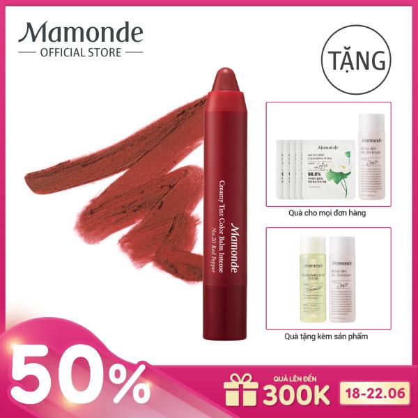 Son bút chì 3 in 1 cho bờ môi mềm mượt Mamonde Creamy Tint Color Balm Intense 2.5g giá rẻ