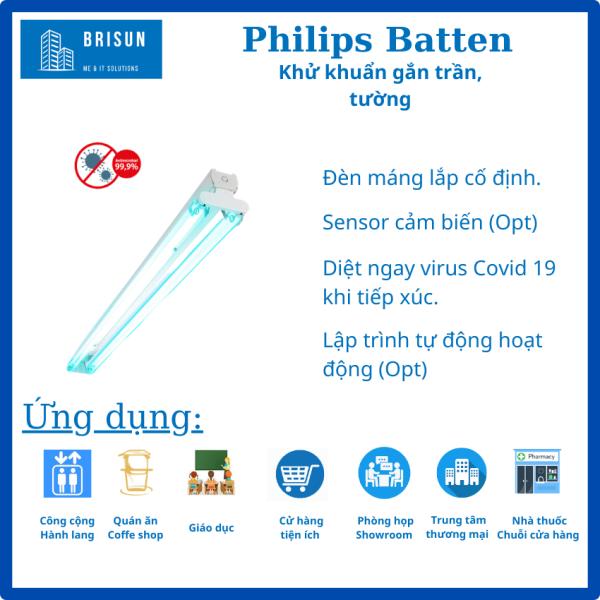 [FreeShip ] Đèn UVC đôi gắn tường Philips diệt khuẩn, khử trùng–Bóng Đèn UV, UV-C Philips diệt Virus, vi khuẩn.-Đèn năng lượng-Tia cực tím-Trợ Sáng di chuyển đa năng. Diệt Vi Rút Covid 19-Virus Corona- Sars Cov 2, [Chuẩn Y tế], NK