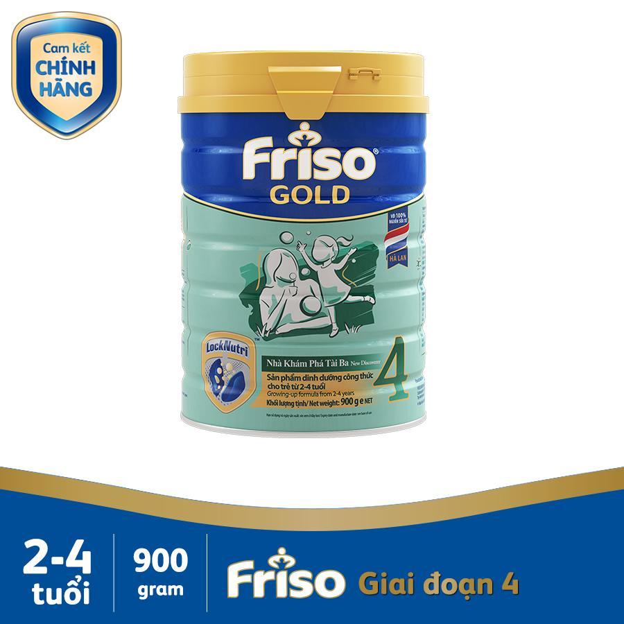 Sữa Bột Friso Gold 4 900g Chứa Thành Phần Synbiotics Giúp Hỗ Trợ Tiêu Hóa