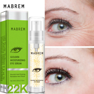 MABREM 22k Golden Eye Serum Moisturizing Anti-Wrinkle Anti-Age Hyaluronic Acid Remover Dark Circles Against Puffiness And Bags thumbnail