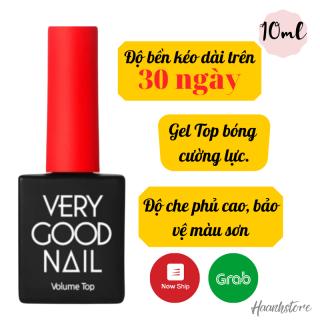 Very good Nail Top Gel Sơn gel TOP Bóng cường lực Freeship Volume Top gel 10ml thumbnail