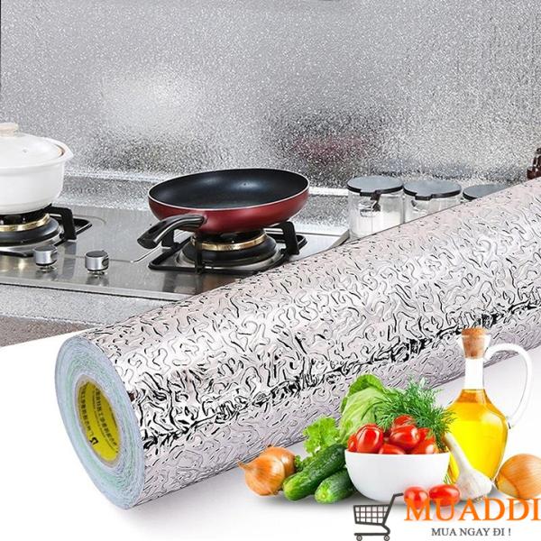 Cuộn giấy bạc dán bếp tráng nhôm cách nhiệt 3mx60cm