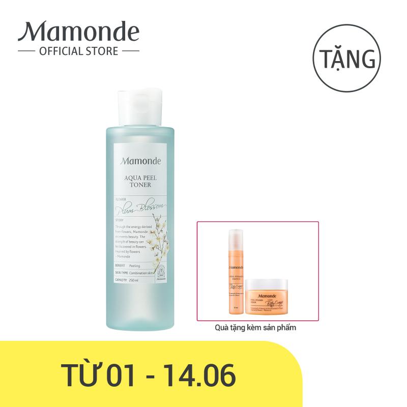 Nước cân bằng dưỡng ẩm loại bỏ tế bào da chết và bụi bẩn trên da Mamonde Aqua Peel Toner 250ml giá rẻ