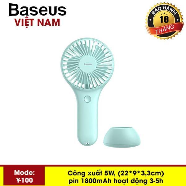 Quạt mini - Quạt tích điện  Baseus Y100 Mini USB Fan Di Động để bàn hoặc Cầm Tay Pin bền 1800 mAH Tiện Dụng sử dụng đa năng trong nhà ngoài trời - Phân phối bởi Baseus Vietnam