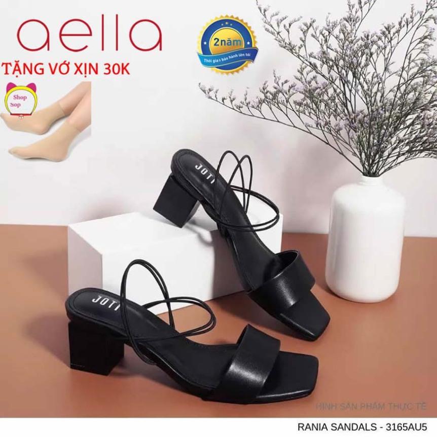 Giày sandal nữ cao gót 5cm AELLA233 - Form chuẩn vnxk , êm mềm - Giày xăng đan cao gót dáng công sở giá rẻ