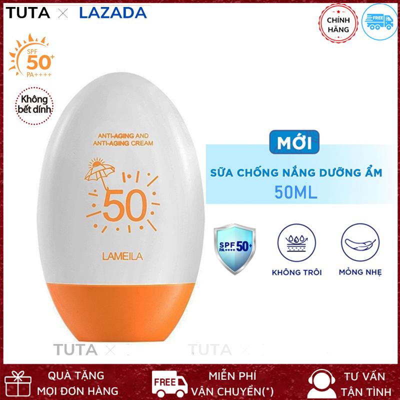 Kem chống nắng Lameila cho da mặt bảo vệ da SPF 50++ dưỡng và hỗ trợ tái tạo da chắc khỏe, chống nắng hiệu quả dành cho cả nam và nữ, chất kem mịn, nhẹ không gây bết dính, sản phẩm nội địa Trung chính hãng-KC