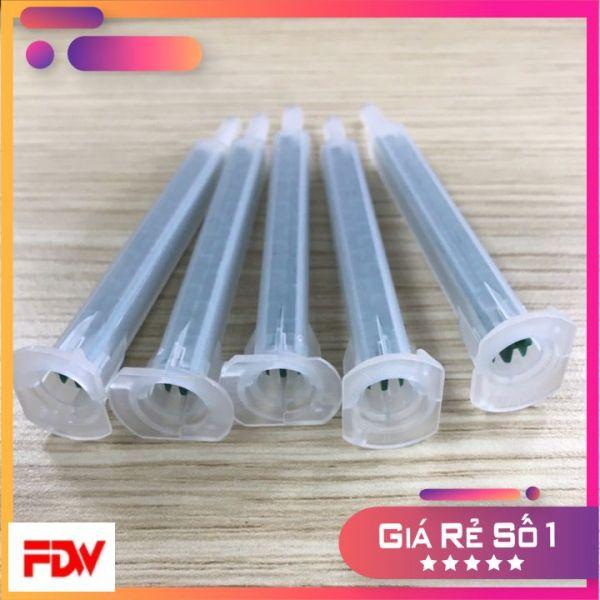 50 Đầu trộn keo 2 thành phần bằng nhựa thân vuông 6-16 tiện ích, đầu kim bôi keo, ống trộn keo AB glue mixer