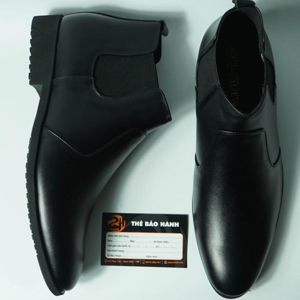 Chelsea boot da bò thật nguyên tấm thật 100%  bảo hành 12 tháng  (2H - 19BL) giá rẻ