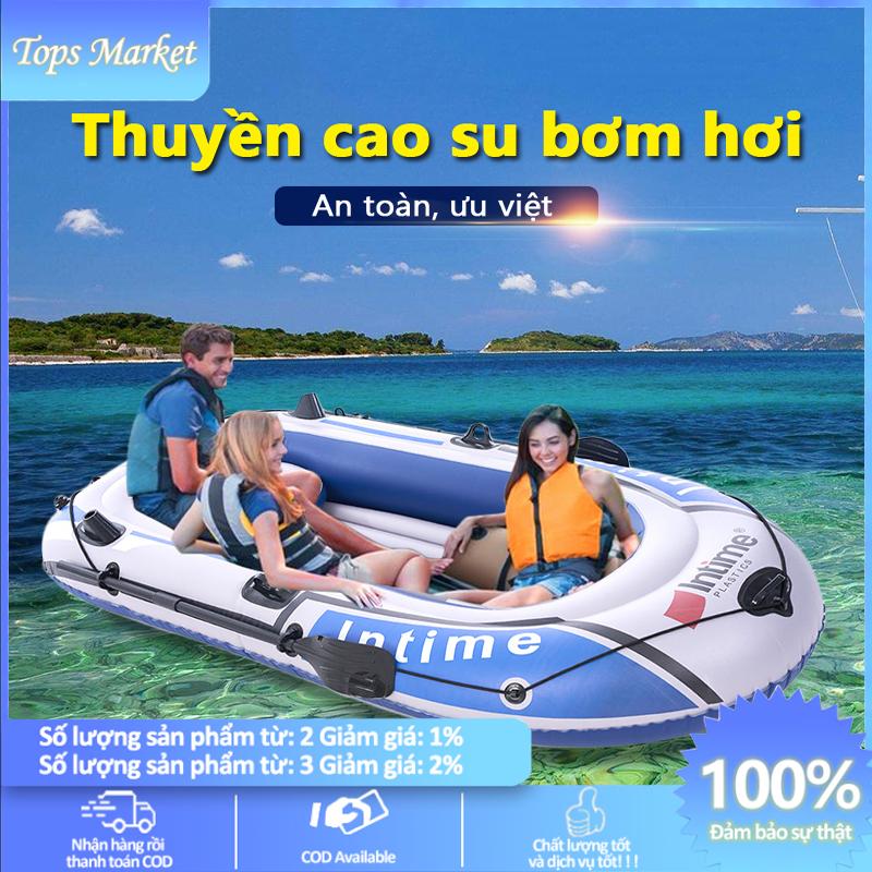 [HCM]Thuyền hơi thuyền phao xuồng bơm hơi thuyền câu cá INTIME chứa 3người 4 người lớn dày hơn rộng hơn cao cấp chắc chắn thuyền dã ngoại tuyệt vời Tops Market