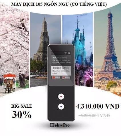 Máy phiên dịch đa ngôn ngữ I - Tek Pro - Dịch 2 chiều tới 137 Ngôn ngữ