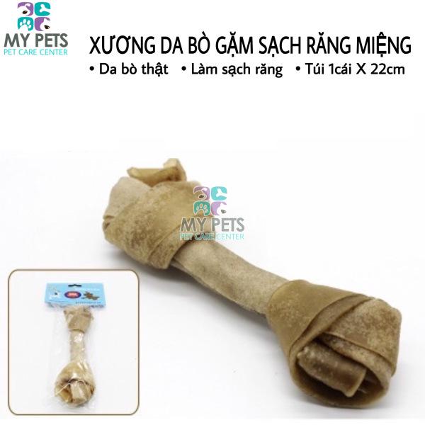 Xương da bò cao cấp dành cho chó gặm sạch răng, khử mùi hôi miệng - Túi 1 chiếc 20cm