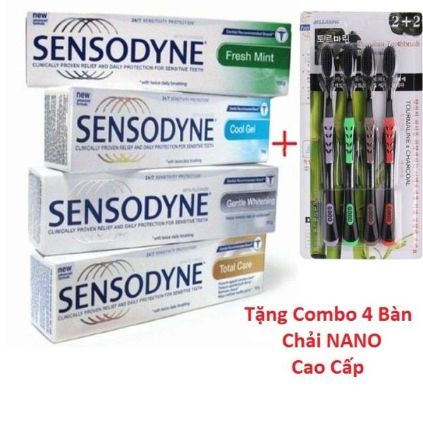 COMBO 6 Tuýt Kem đánh răng chống ê buốt thái lan tặng kèm 4 bàn chải NANO cao cấp nhập khẩu