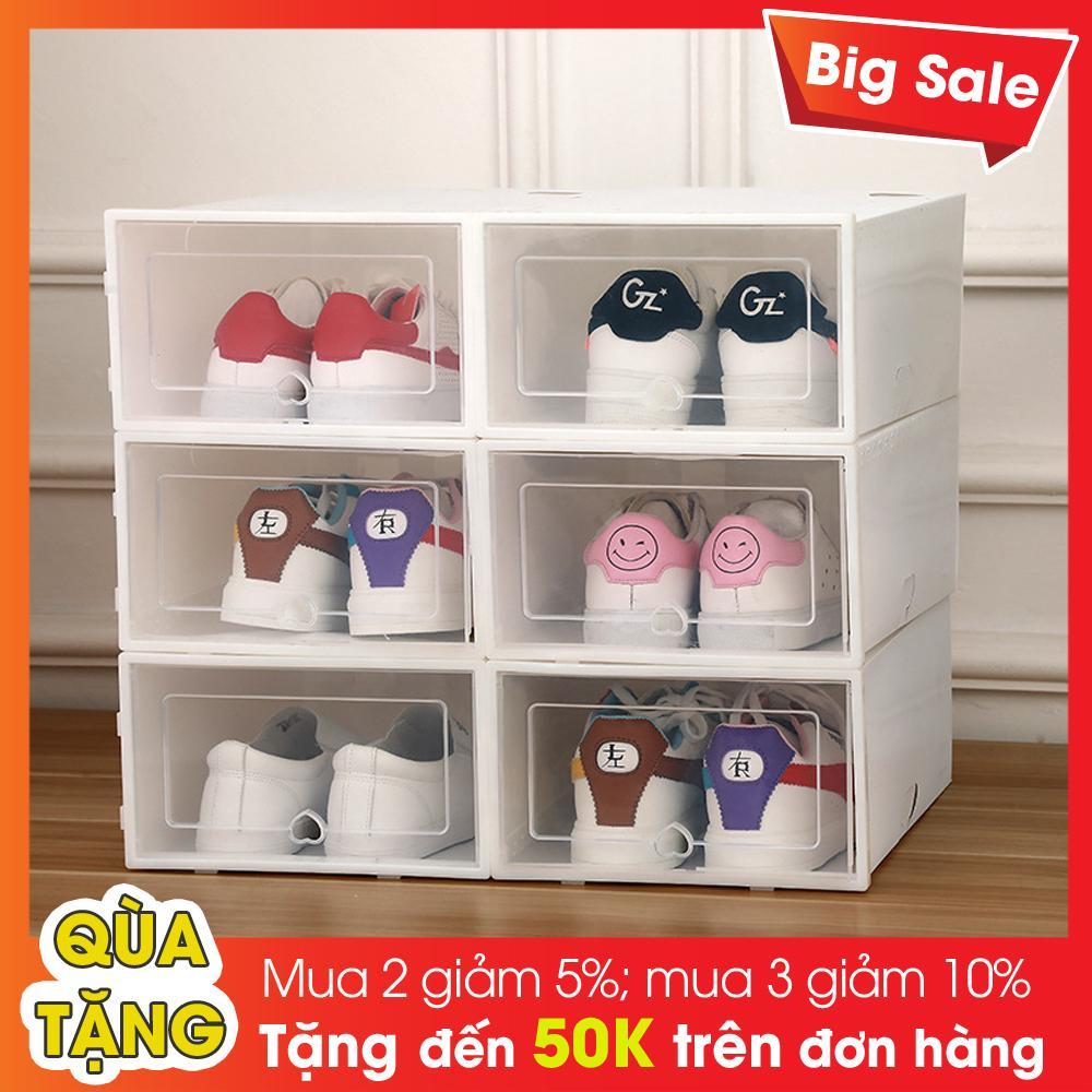 Offer Khuyến Mại Hộp Đựng Giày Nắp Nhựa Cứng + Tặng Túi Thơm Làm Thơm Giày