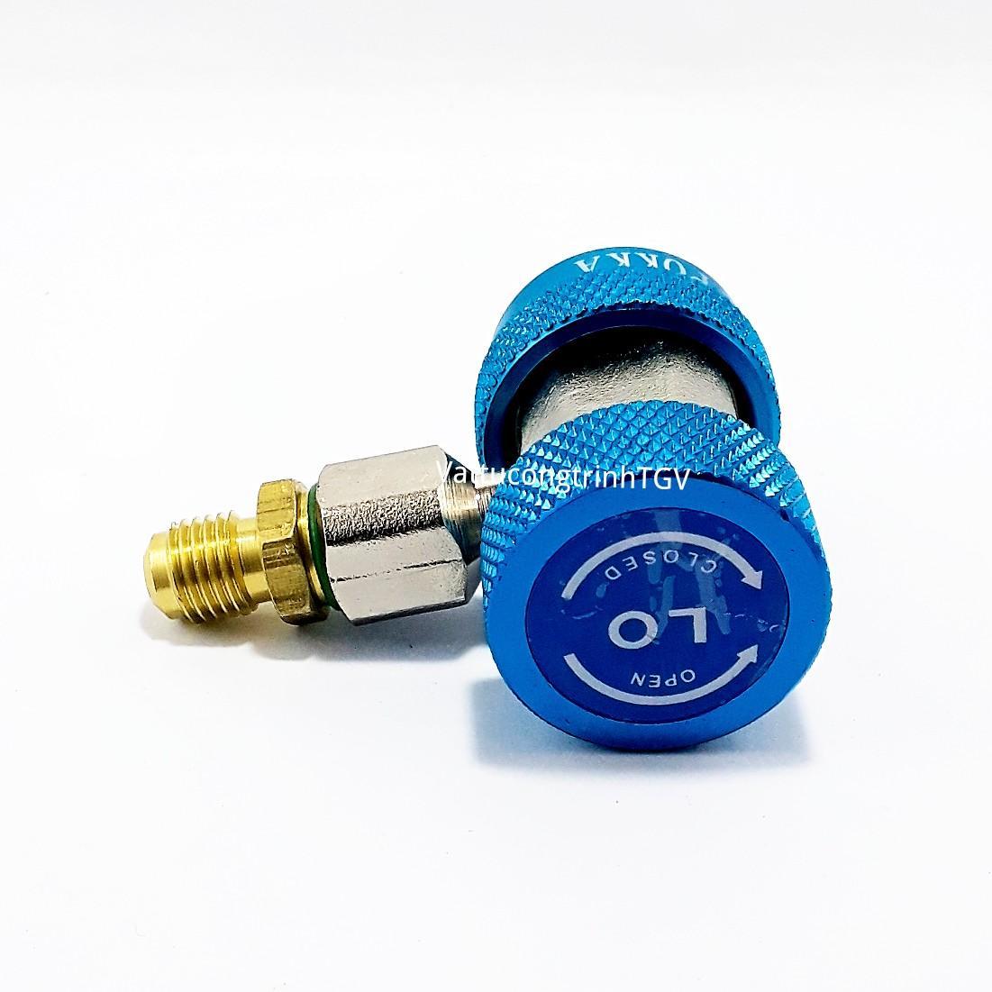 Van nạp Gas lạnh hạ áp R134 cho ô tô (xanh)