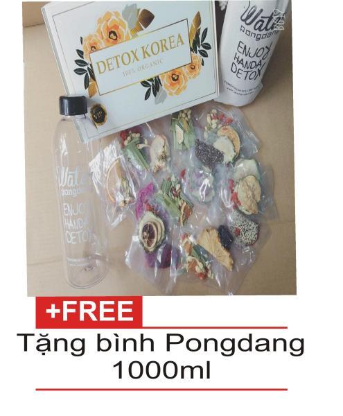 Set Detox liệu trình 30 ngày (30 gói) giảm cân - Tặng bình Pongdang 1000ml