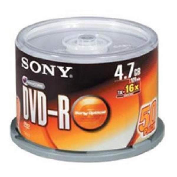 Bảng giá Đĩa dvd trắng ,Đĩa trắng DVD Sony 1 lốc 50 cái 4.7G hộp box Phong Vũ