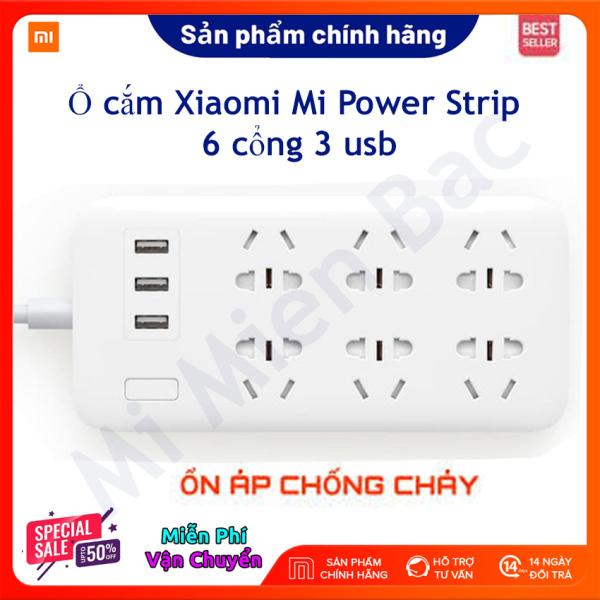 [CHÍNH HÃNG XIAOMI] Ổ cắm Xiaomi 6 cổng 3 usb Mi Power Strip - CXB61QM-1QM – BH 6 Tháng – Mi Miền Bắc