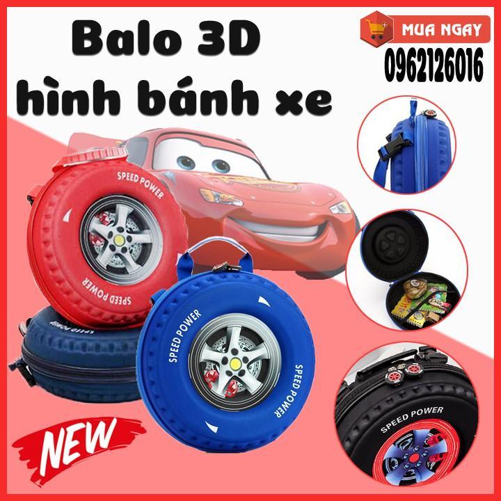 Giá bán Cặp 3D tạo hình bánh xe cho bé, balo bé đi học đi chơi, Túi đựng đồ khi ra ngoài cho bé an toàn, chất lượng giá thành tốt - Được bảo hành 1 đổi 1 chỉ có ở Legend Plaza
