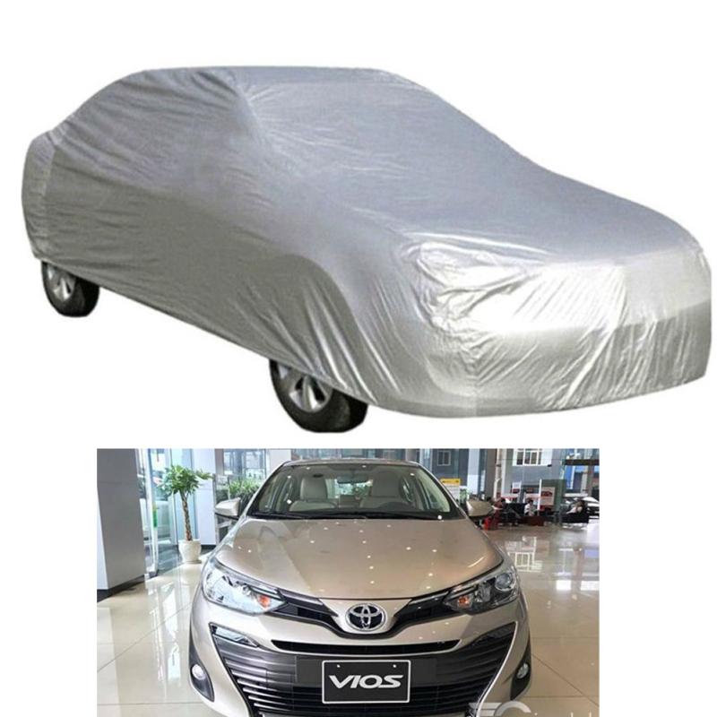 Bạt Phủ xe Ô Tô Toyota Vios Vải Dù OXFORD Siêu Bền, Bạt Trùm Xe Hơi Chống Nắng Mưa Bảo Vệ Xe