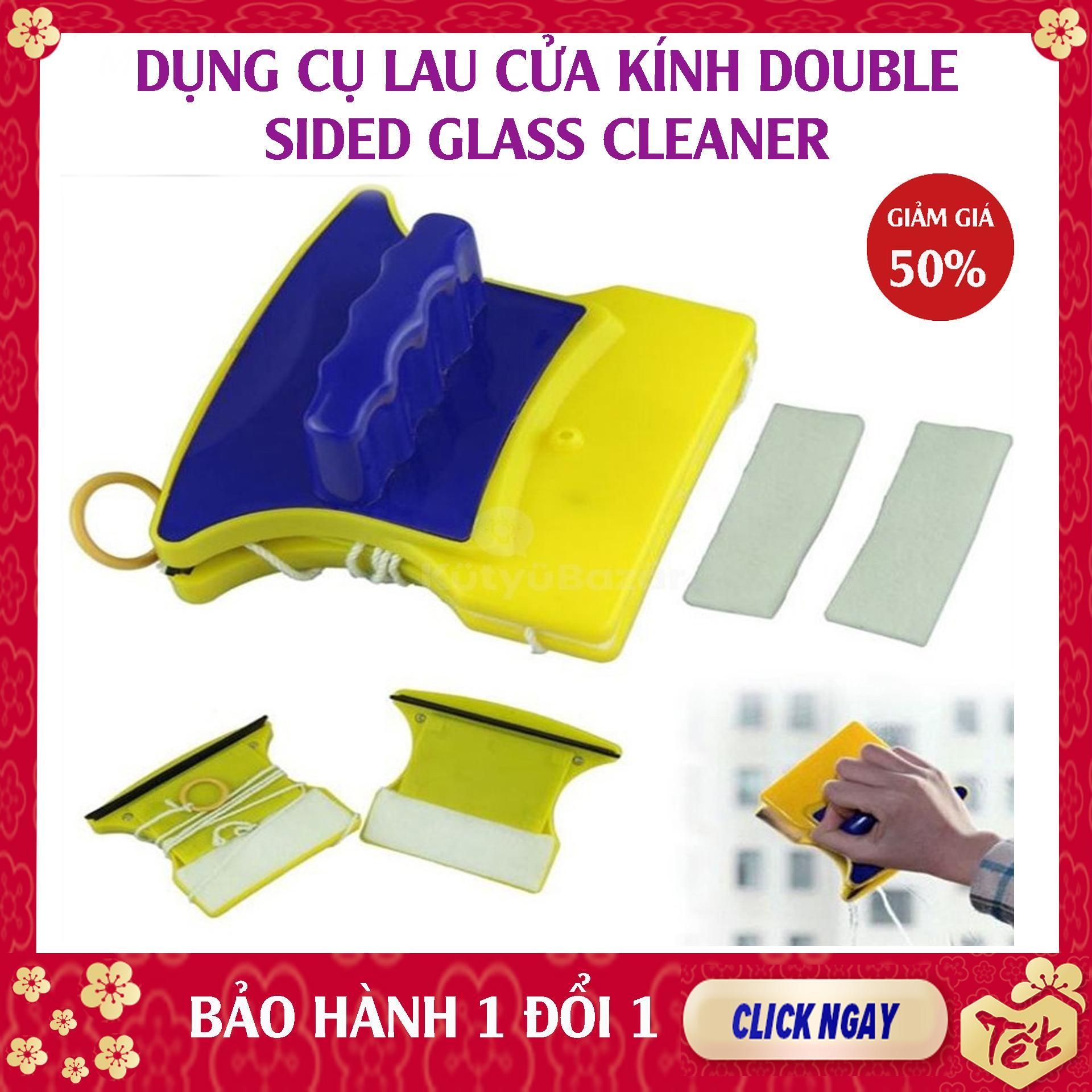 Dụng cụ lau kính - Miếng Lau cửa kính 2 mặt Nam châm - Thiết kế 2 miếng nam châm dính với nhau , Làm sạch cửa kính trên cao dễ dàng - Cây lau kính cao tầng - Lau cửa kính chung cư - Sgmall