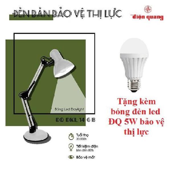 đèn bàn học sinh / đèn bàn led / Đèn bàn bảo vệ thị lực Điện Quang ĐQ DKL14 - Màu đen / màu xám