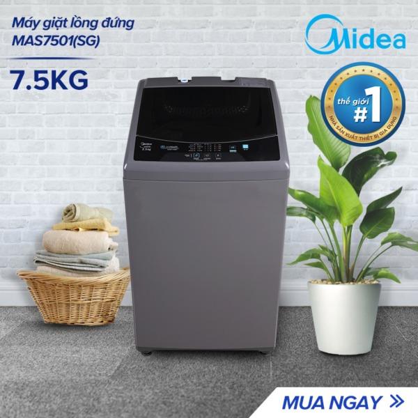 Bảng giá Máy giặt lồng đứng Midea MAS7501(SG) /  MAS7502(WB) 7.5kg (Trắng/Xám Bạc) - Thiết kế đơn giản sang trọng - Điều khiển một chạm cảm ứng - Hàng Chính Hãng Bảo Hành 2 Năm Điện máy Pico