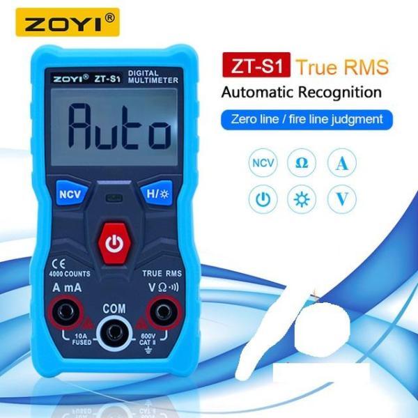 Đồng hồ vạn năng số tự động hoàn toàn ZOYI ZT-S1 True RMS 4000 count có NCV BẢO HÀNH 12 THÁNG