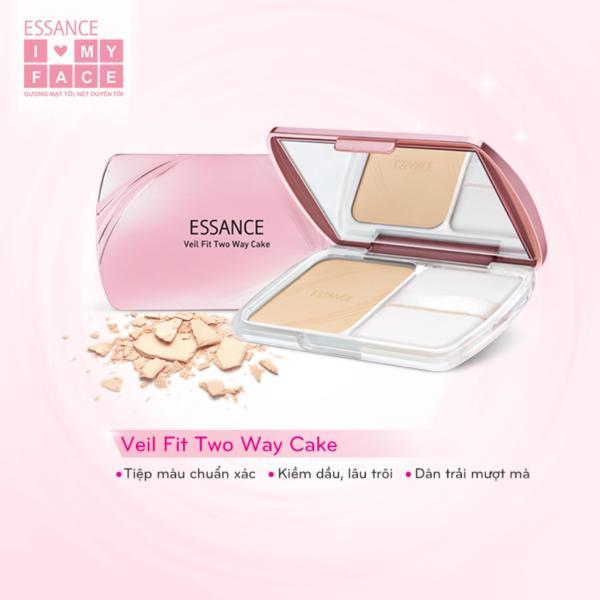 Phấn Nền Essance Siêu Mịn Lâu Trôi - Veil Fit Two Way Cake