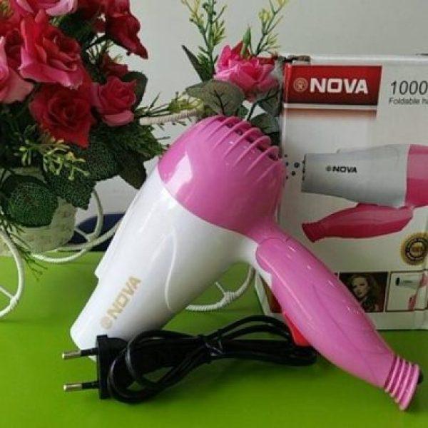 Máy sấy tóc Nova 1290 mini gấp gọn 1000W có 2 chế độ thích hợp để mang đi du lịch, máy sấy tóc mini công suất cực mạnh, máy sấy tóc du lịch, máy sấy tóc cao cấp, máy sấy tóc mini du lịch
