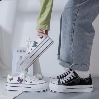 FREESHIP TỪ 99k [Video] Giày Sneaker Nữ Độn Đế 3cm Phản Quang Siêu Hot thumbnail