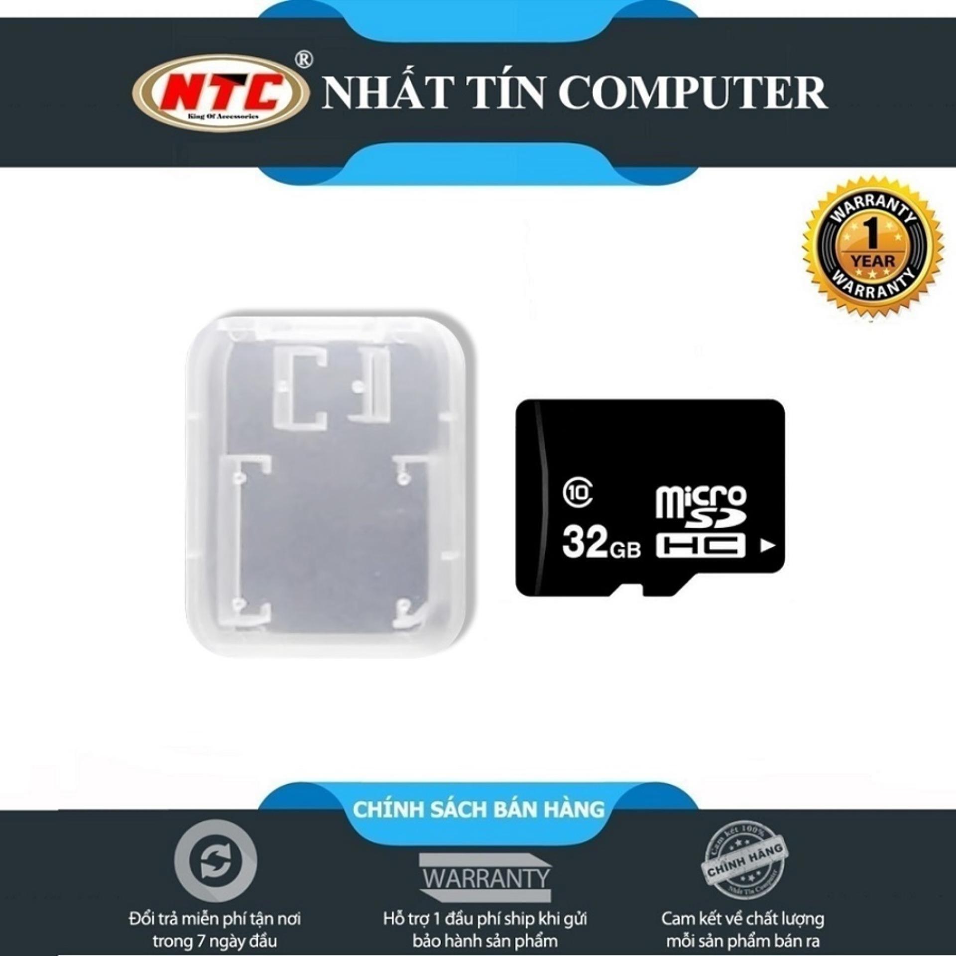 [HCM]Thẻ nhớ MicroSDHC NTComputer 32GB Class 10 (Đen) + Tặng kèm hộp thẻ - Nhất Tín Computer
