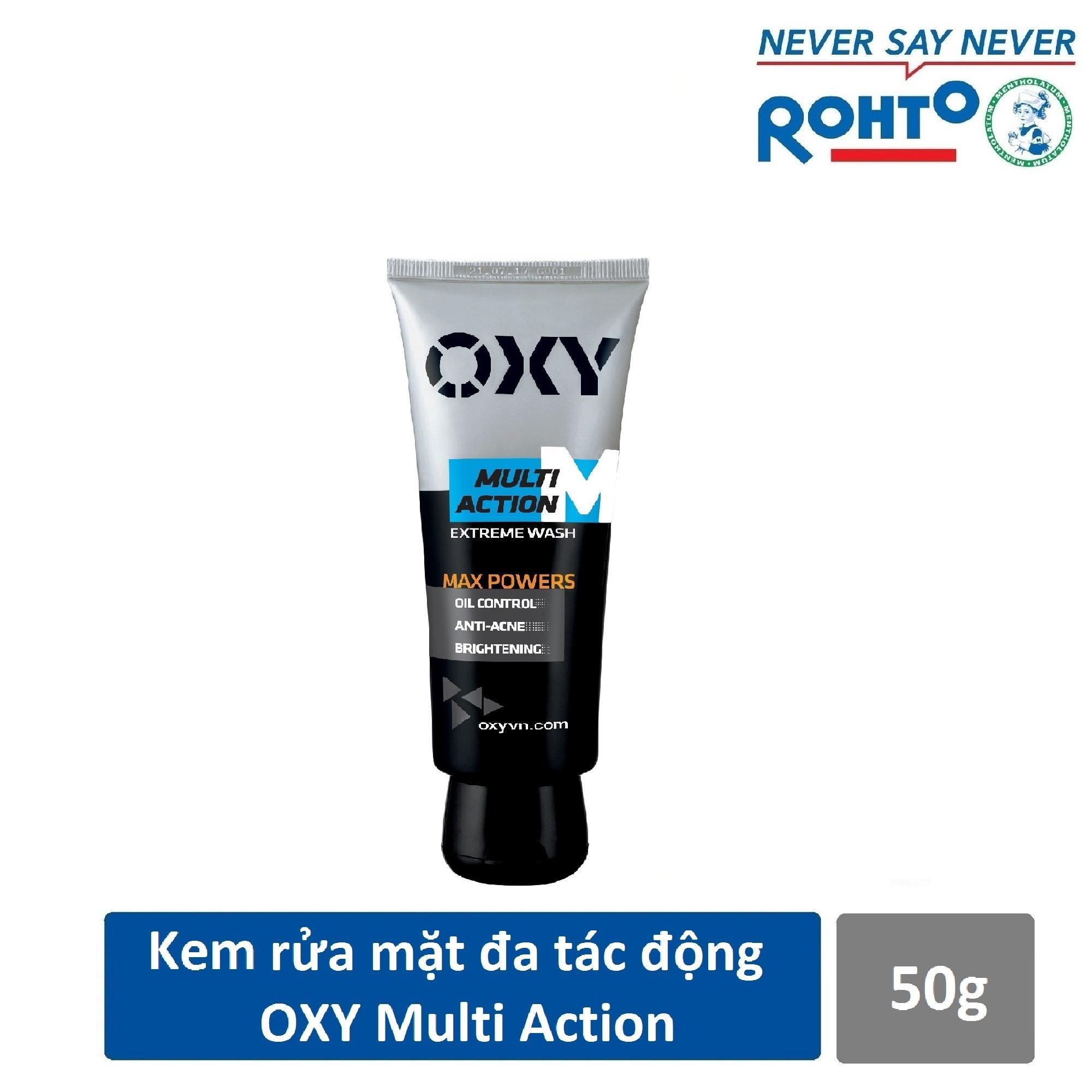 [QUÀ TẶNG] Kem rửa mặt đa tác động cho Nam Oxy Multi Action 50g tốt nhất