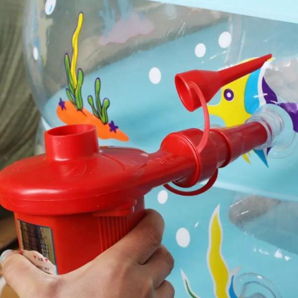 Bơm điện 2 chiều thổi hơi hút chân không Wenbo (Đỏ) / Máy Bơm Hút Điện Đa Năng SH Wenbo-196 - Bơm Phao Bơi, Nhà Hơi, Nệm Hơi, Bể Bơi Phao