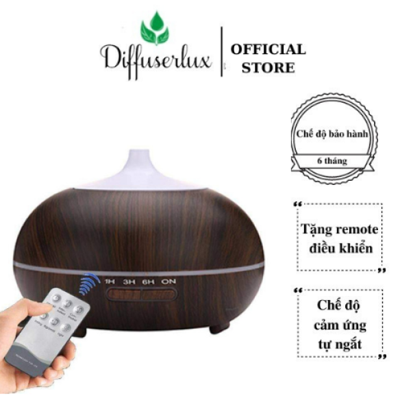 Máy xông tinh dầu Bí Ngô 550ml kèm điều khiển, đèn led 7 màu, khuếch tán hương thơm tinh dầu, tạo độ ẩm phòng điều hòa