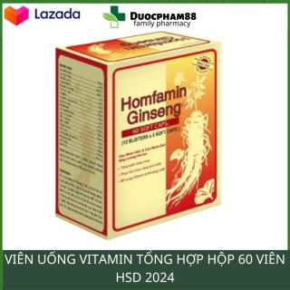 Viên uống ăn ngon ngủ ngon tăng sức đề kháng cho cơ thể HOMFAMIN hộp 60 viên nang HSD 2023 - dược phẩm 88 thumbnail