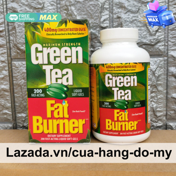 Viên Uống Maximum Strength Green Tea Fat Burner Của Mỹ 200 viên -  400mg concentrated EGCG giảm cân an toàn, hiệu quả, khoa học từ Mỹ chiết xuất từ trà xanh giá rẻ