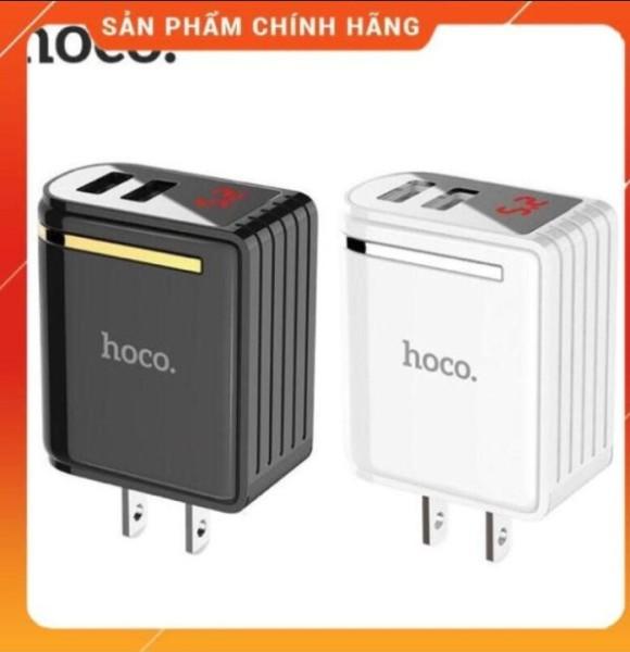 Củ sạc nhanh 2 cổng có đèn led Hoco C39 - hàng chính hãng