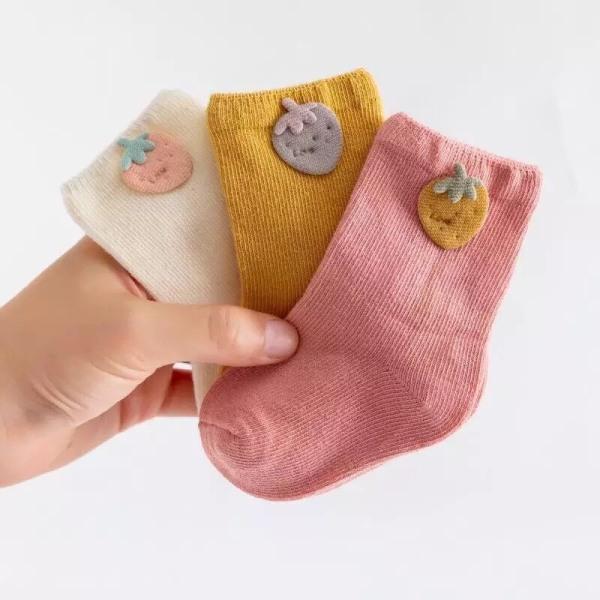 Giá bán (T1) Sét 3 đôi tất cotton hình họa tiết - hàng quảng châu -CAO CẤP chất dày dặn-cho bé từ 0-3 tuổi