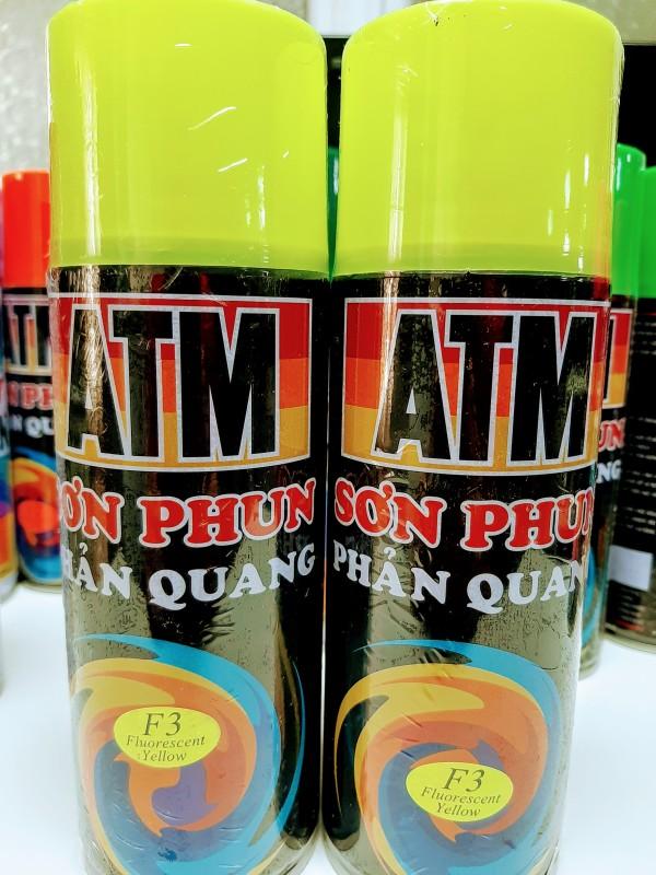 Sơn Xịt Phản Quang Vàng Chanh ATM F3 Chính Hãng
