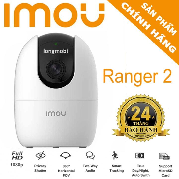 DAHUA Camera IP WIFI IMOU RANGER2 A22EP – FULL HD 1080P - Chuẩn nén H.265 - Hỗ trợ thẻ nhớ lên đến 256GB + Kết nối đầu ghi - Bảo hành chính hãng 2 năm