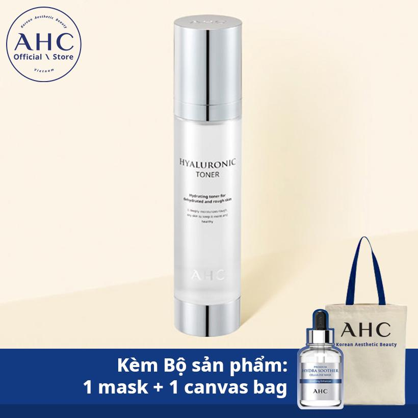 Nước hoa hồng Hyaluronic Toner 100ml kèm Bộ sản phẩm: 1 mặt nạ + 1 túi canvas