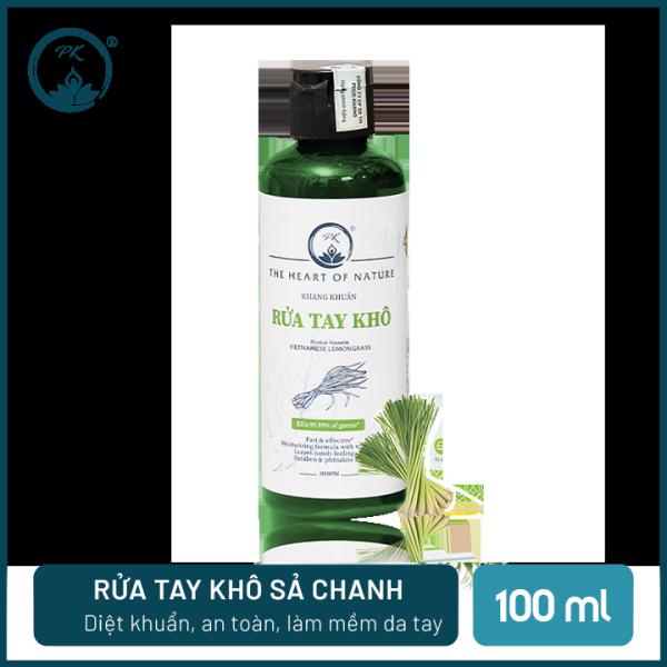 [SÁT KHUẨN] Nước rửa tay khô tinh dầu Sả Chanh PK 100ML – có kiểm định diệt khuẩn 99,9%