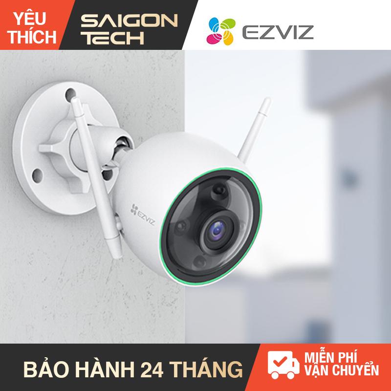 [Nhập ELAPR21 giảm 10% tối đa 200k đơn từ 99k][NHÀ PHÂN PHỐI] Camera Wifi EZVIZ C3N Full HD 1080P có màu ban đêm có đèn báo động - Tích hợp tính năng AI thông minh phân biệt giữa người và các vật thể khác để tránh báo động giả - Saigon Technology #cameraw