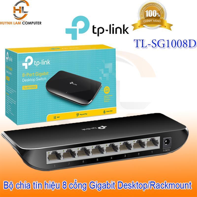 Bảng giá Switch 8 port - Bộ chia mạng 8 cổng Gigabit TPLink TL-SG1008D FPT phân phối Phong Vũ