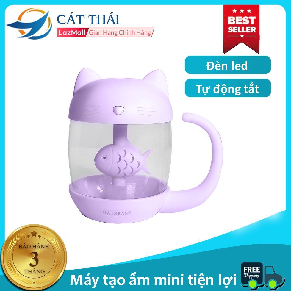 Giá Máy tạo ẩm / máy phun sương con mèo thích con cá kết nối cổng USB cực dễ thương Kết nối cổng USB , có đèn led dùng làm đèn ngủ