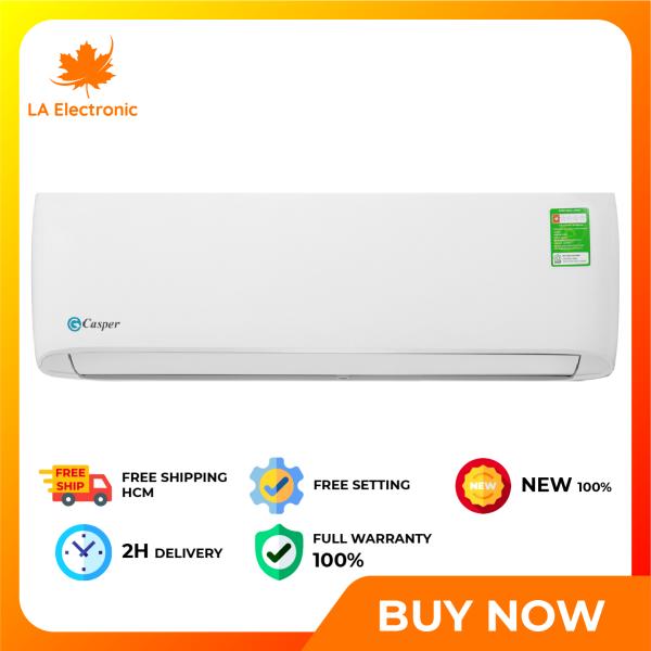 Trả Góp 0% - Máy lạnh - Casper 1 Air conditioner HP LC-09TL32, thiết kế thông minh, công nghệ hiện đại, hoạt động mạnh mẽ và bền bỉ, có chế độ bảo hành và xuất xứ rõ ràng - Miễn phí vận chuyển HCM