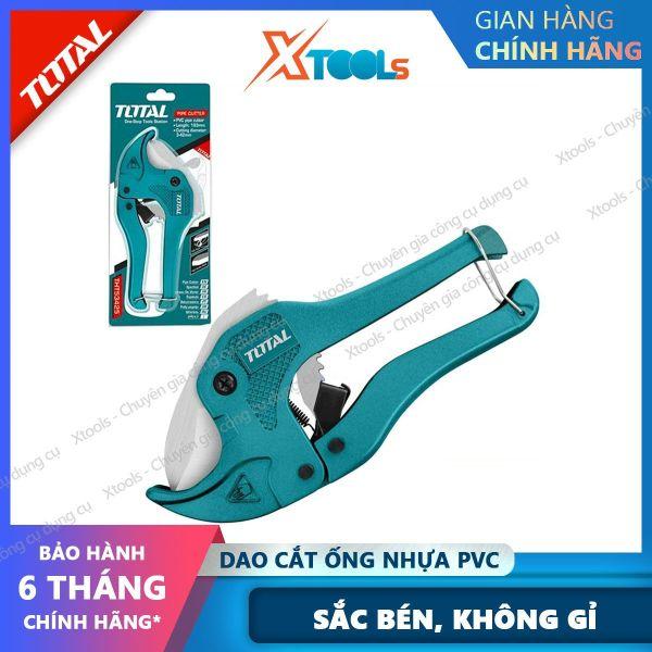 Dao cắt ống nhựa PVC chuyên dụng cao cấp TOTAL thép không gỉ sắc bén tự động đóng mở cắt ống nước nhựa sửa chữa cơ khí [XTOOLs] [XSAFE]