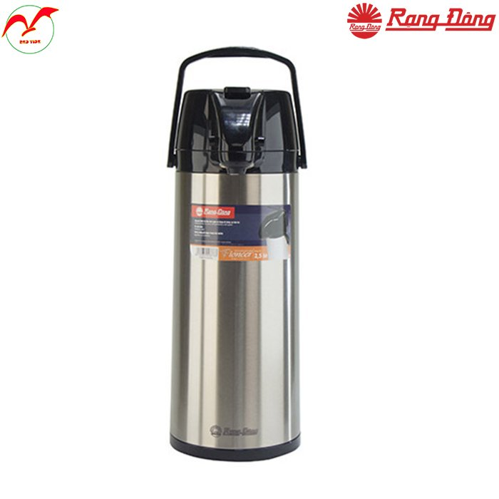 Phích bơm nước cao cấp 2 lít chính hãng Rạng Đông, giữ nhiệt lâu với ruột phích bằng thủy tinh chất lượng cao, vỏ phích bằng inox sáng bóng sang trọng RD 2045 ST1.E