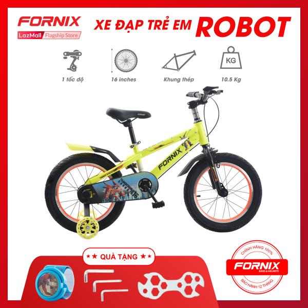 Phân phối Xe đạp trẻ em Fornix Robot- Vòng bánh 16 inch (KÈM SÁCH HƯỚNG DẪN) - Bảo hành 12 tháng + Tặng (Bộ lắp ráp - Đồng hồ trẻ em)