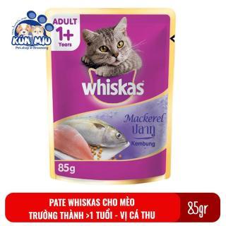 1 gói Thức ăn Pate Whiskas adult cho mèo trưởng thành 85gr Vị Cá thu thumbnail